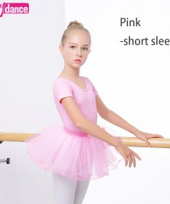 Child Ballet Tutu Pink Slim Dance Clothes Leotard Girls Princess Ballet Dress For Kids 1