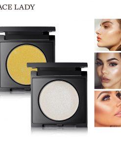 SACE LADY Highlighter Powder Makeup Bronze Face Illuminator Glow Kit Rose Gold Brighten Contour Make Up Glitter Shimmer Cosmetic