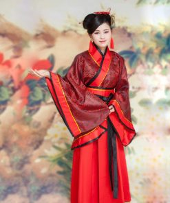 DJGRSTER Classical Hanfu Costume Women Tang Traditional Chinese Ancient Costume Woman Dance Costumes Chinese Folk Clothes 1