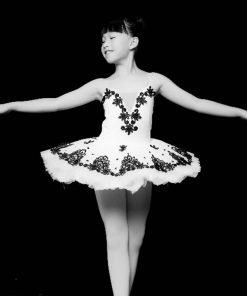 Children Ballet Costume Little Swan Tutu Dance Dress Platter Tutus for girls Performance Pancake Costumes 1
