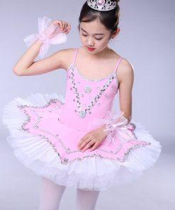 Children Swan Lake Ballet Costumes Child Pancake Ballet Performance Tutu Skirt Dance Clothes for girls  1