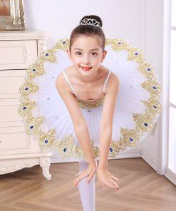 Little Swan Dance Skirt Ballet Performance Costume