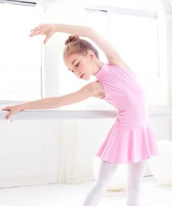 Turtleneck Ballet Dress Girls Dance Clothing Sleeveless Training Ballet Dance Wear For Kids 1