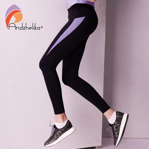 Andzhelika 2018 Women Yoga Legging Elasticity Waist Sport Workout Trousers Sexy Gym Fitness Pants Jogging Clothes Wear Sportwear 3