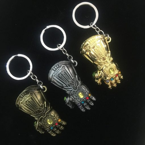 Avengers Infinity War Thanos Cosplay Costumes Infinity Gauntlet Gloves Armor Model Key Chain Keychain 2