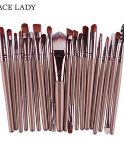 SACE LADY Make up Brushes Set 20Pcs Foundation Eyebrow Brush Kit Eyeshadow Eyeliner Powder Makeup Tool Eyelash Lip Cosmetic
