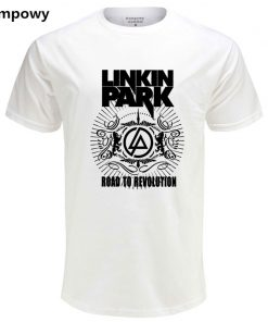 Eqmpowy 2018 Summer Fashion Brand Men T Shirt Lincoln LINKIN Park T-Shirt 100% Cotton Linkin Clothes Short Tops Tees 1
