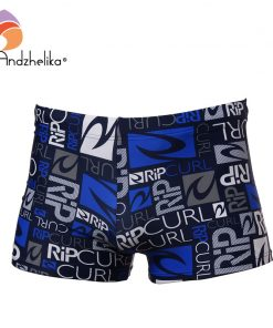 Andzhelika 2018 New Trunks Men Sexy Sport Letter Swimwear Swim Briefs Bikini Sexy Swim Underwear Men's Trunks Surf Board Shorts