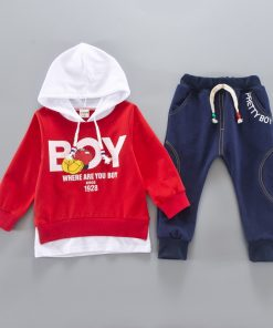 2018 Kid Clothes Sets Baby Boy Cotton Sports Hooded T Shirt Sweatshirt + Pants Children Boys Kids Casual Suits 1