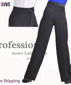 Professional Boys Modern Ballroom Salsa Tango Rumba Samba Cha Cha Latin Dance Pants Black Dance Trousers For Men 1