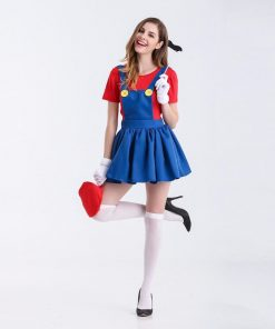 Super Mario Cosplay Costume Women Sexy Fancy Dress Halloween Carnival Partywear Green Red Outfit Adult Cartoon Game COS For Girl 1