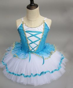 Children Strap Giselle Ballerina Dress For Kids Gymnastic Clothes for GirlsBallet Infantil Menina Costume Danse Enfant 1
