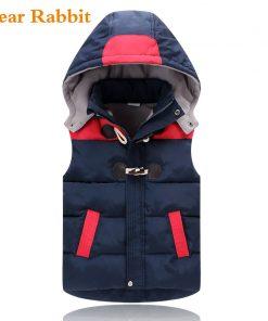2018 Winter Kids vests Waistcoats Children Vest Warm Hooded Coat Infant sleeveless Jacket Cotton Kid Clothe Boy Girl Outwear