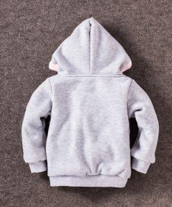2018 Children's Garment Autumn Winter Children Cotton-padded Cute rabbit Cartoon Even Hat Casual baby Coat Sweater girls jackets 1