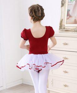 Dance Leotard Ballet Short Sleeved Gymnastic Dress Kids Ballet dresses for Girls Ballerina Tutus 1