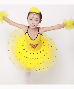 Child Strap Swan Lake Ballet Tutu Costume Performance Girls Children Ballerina Dress Kids Ballet