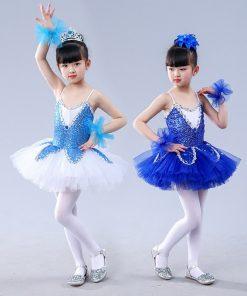 Ballet Tutu Child Sequin Ballet Skirts Little Swan lake Girls Dresses Children Performance Stage Costume