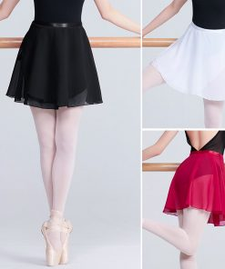 Adults Lyrical Chiffon Dance Skirts Transparent Women Tie Skirt Pull-On Wrap Ballet Dance Wear
