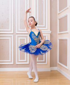 Children Strap Ballet Pancake TuTu Dress Kids Girls Swan Lake Ballet costume 1