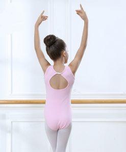 Ballet Leotards for Girls Sleeveless Gymnastics Body Ballet Children dance clothes cotton Ballerina bodysuit Jumpsuit 1