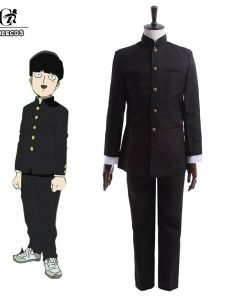 ROLECOS Sakamoto Anime Cosplay Men School Uniform Costume Mob Psycho 100 Cosplay Costume Kageyama Shigeo Boy Clothing Set  1