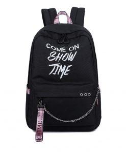 Fashion Luminous Waterproof Women Daily Backpacks College Student Bookbags Reflective Bagpack for Girls School Knapsack 1