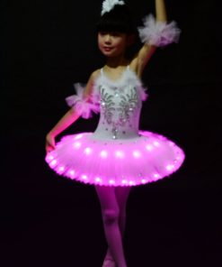 Profession Ballet Tutu Child LED Costume Kids Swan Lake Pancake Girl Ballet Dress for Party Hallow Costumes 1