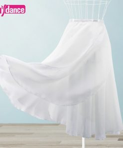 Women Long Ballet Wrap Skirt 2 Layers Lyrical Chiffon Skirt For Dancing 1