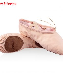 Professional Children Girls Kids Canvas Soft Sole Ballet Dance Practice Shoes