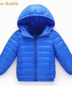 2-10Y Light 90% Duck Down jacket children Outerwear Boy Girl autumn Warm Hooded Coat teenage parka kids winter Jackets & Coats 1