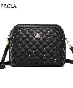 REPRCLA New Rivet Women Messenger Bags Designer PU Leather Handbag Crossbody Bags for Women Shoulder Bag Female Purse