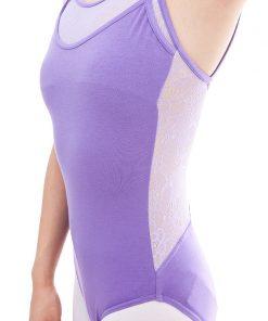 Women Double Spaghetti Strap Ballet Dance Camisole Leotard Lace Neck Bodysuit Sexy Back Low Gymnastics Ballerine Leotard 1