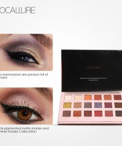 FOCALLURE 18Pcs Highly Pigmented Glitter Eye Shadow Flash Shimmer Eyeshadow with Matte Colors Easy to Wear Eye Daily Makeup 1