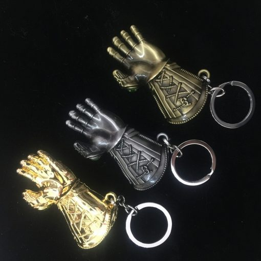 Avengers Infinity War Thanos Cosplay Costumes Infinity Gauntlet Gloves Armor Model Key Chain Keychain 4