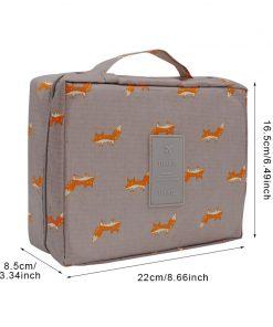 Mihawk Women's Fashion Fox Pattern  Cosmetic Bag Travel Necessary Cosmetics Markup Bag Storage Organizer Accessories Supply Gear 1