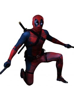 Deadpool costume adult Man marvel cosplay deadpool costumes men kids Wade Wilson Spandex Lycra Nylon Zentai bodysuit Halloween 1