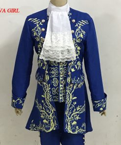 2017 New Movie Prince Adam Costume Beauty and the Beast Cosplay Costume Halloween Carnival Party Clothes Adult Dan Stevens