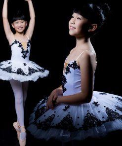 Children Ballet Costume Little Swan Tutu Dance Dress Platter Tutus for girls Performance Pancake Costumes