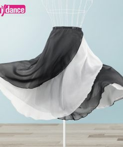 Women Long Ballet Wrap Skirt 2 Layers Lyrical Chiffon Skirt For Dancing