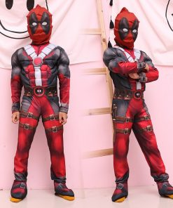 LIVA GIRL New Arrival Deluxe Boys Marvel Anti-Hero Deadpool Children Muscle Movie Halloween Carnival Party Cosplay Costume 1
