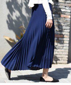 Sherhure 2018 Autumn Women Skirt Vintage Long Skirt Saias High Waist Women Maxi Skirt Saia Longa Falda Pleated Skirt Jupe 1