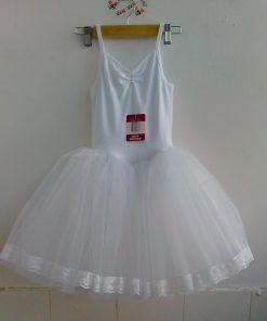 New Girls Ballerina Long Skirted Camisole Leotard Ballet Dress Pink White Ballet Dancewear 1