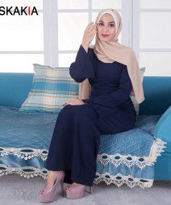Siskakia women long dress Formal Elegant ladies party dress Dinner Evening maxi dresses Muslim solid high waist pencil dress New 1