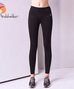 Andzhelika 2018 New Women Yoga Pants Fitness Sports Leggings Running Trousers Compression Breathable Top Tracksuit Tights S-XL 1