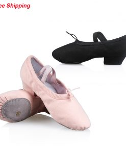 Professional Women Canvas Ballet Dance Shoes Dance Ballet Practice Shoes For Teacher