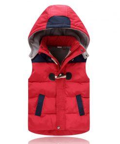2018 Winter Kids vests Waistcoats Children Vest Warm Hooded Coat Infant sleeveless Jacket Cotton Kid Clothe Boy Girl Outwear 1
