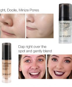SACE LADY Face Makeup Set Matte Foundation Primer Full Cover Concealer Cream Liquid Corrector Make Up Kit Base Pores Cosmetic 1