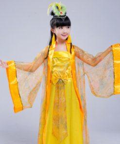 DJGRSTER New Girls Chinese Folk Dance Fairy Costume Children Classical Hanfu Costume Traditional Ancient Chinese Clothing Hanfu