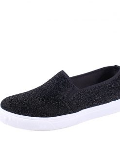 MCCKLE Slip On Flats Women Platform Glitter Footwear For Female Elastic Band Woman Flat Shoes Spring Casual Vulcanized shoes 1