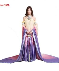 2017 Star Wars Padme Amidala Cosplay Costume long party dresses Halloween Costume for women adult Padme Princess Dress